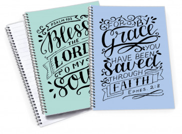 A5 Bible Verse Notebooks