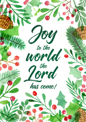 Joy to the World the Lord Has Come (Christmas Cards)
