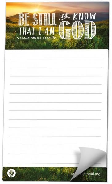 Be Still Notepad