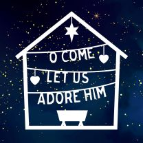 O Come Let Us Adore Him (Christmas Cards)