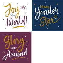 Carol Script Set (Christmas Cards)