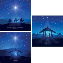 Blue Nativity Set