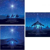 Blue Nativity Set